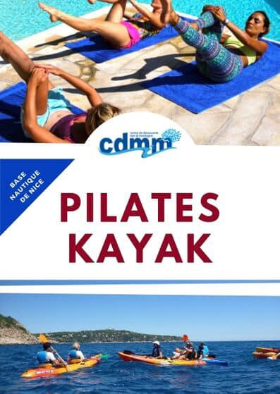 pilates and kayaking in Nice (France) summer 2019